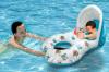 De dubbele Opblaasbare Baby en de Mama van de Jonge geitjes van de Persoon zwemmen de Zetel van het Water van de Buis van de Ring van de Vlotter van de Boot met de Luifel van het Zonnescherm