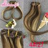 Clip peruano de las extensiones del pelo de Ombre en pelo humano