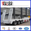 Tri-Axle Китая 60 тонн гусыни шеи Lowbed трейлер Semi