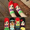 Calcetines felices del tobillo del algodón de las mujeres (WA2091)