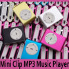Mini Flash Gift Clip MP3 Player 6 Color Support 8GB Micro SD (TF) Card Slim (without USB earphone) Car