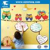 Autoadesivo del calendario dei bambini del fumetto della parete