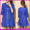 Elegantes 2014 Short Casual Sleeve Dress Patterns com Paillette (W9822)