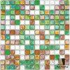 superficie mista di vetro dell'onda del modello del quadrato di colore delle mattonelle di mosaico 12 (N2BG221G13)