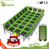 Крупноразмерный крытый парк Trampoline с баскетболом для сбывания