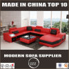 Sofá de couro secional da mobília da sala de visitas do projeto de Italy