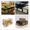 Basamento di legno delle cremagliere di visualizzazione del MDF per il supermercato