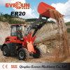 La Cina 4WD idraulico Everun caricatore della rotella del compatto da 2 tonnellate