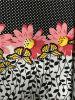 Tessuto puro stampato Aphrodite del popeline di cotone del fiore 100%