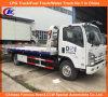 Isuzu 4*2 uno trasporta due camion di Wrecker a base piatta della strada 5tons