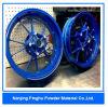 Capa de la resina de epoxy y fábrica de pintura azules