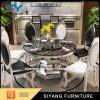 現代円形のステンレス鋼のダイニングテーブル