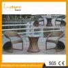 Antiguo Rattan mesa de centro de ratán sintético para cenar al aire Set Mesa