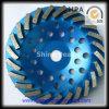 Performance élevé Diamond Cup Wheel pour Concrete Floor Spiral Segment