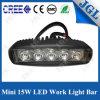Luz popular LED del trabajo del punto de Epistar 15W impermeable/a prueba de choques/a prueba de polvo