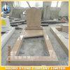 Traditionele Grafsteen die van het Gele Graniet van de Kleur voor Verkoop wordt gemaakt