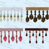 2017 Kleurrijke Gordijn Geparelde Rand 006 van de Leeswijzer