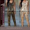 手袋と卸売ブラックセクシーな女性ボディスーツクラブウェアキャットスーツ(TP752)