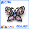 GroßhandelsRhinestone Crystal Butterfly Shape Brooch für Dress