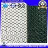PVC-überzogener Eisen-Draht-greifen sechseckiges Draht-Netz-Geflügel ineinander