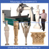 4 Mittellinie CNC-Drehbank-hölzerne Entwurfs-Ausschnitt-Maschine 3D CNC-Holzbearbeitung-Maschine 3D Mittellinie des CNC-hölzerne Fräser-4