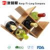 Cremalheiras de bambu do frasco de vinho para o repouso