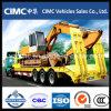 Cimc Semi Aanhangwagen van het Bed van 65 Ton de Lage