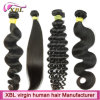 Cabelo humano de Remy do Virgin preto natural da cor