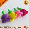 Movimentação feita sob encomenda do flash do USB do PVC de Rosa dos amantes (YT-6433-36L)