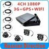 3G GPS WiFi Taxi 4CH bewegliches DVR der Ableiter-Karten-1080P mit Kamera