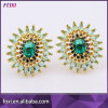 Gekleurde Halfedelstenen van de Juwelen van de manier de Eenvoudige Ontwerp om Oorringen Bricons
