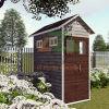 Сад ГЛОТОЧКА деревянный самонаводит дом для овоща и цветка засаживая в задворк