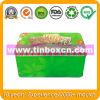 Imballaggio dello stagno dell'alimento di rettangolo, contenitore di stagno del biscotto, contenitore di biscotti