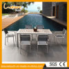 De openlucht Lijst en de Stoel van het Restaurant van de Legering van het Aluminium van het Zwembad van de Koffie van het Balkon van het Meubilair van de Tuin Plastic Houten