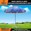 Aço que anuncia o guarda-chuva de Sun ao ar livre