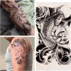 Etiqueta engomada temporal impermeable del tatuaje del diseño de la flor de la carpa