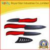 нож штейнового черного лезвия 3PCS керамический установленный с оболочкой