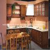 Cabinet 2016 de cuisine de glaçage de café en bois plein de Welbom conçu