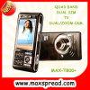 Телефон TV диапазона квада Max-T800+ с кулачком сигнала.