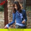 Maglione delle donne di modo con il collo della camicia (Jl2011-002)