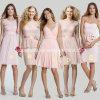 Nach Maß kurzes Chiffon- Spitze-Brautjunfer-Kleid Yao103001