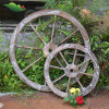 Giardino Handmade Product di Nature Wood con Wheel Type