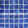 mosaico lustrato cristallo blu scuro del reticolo del fiore di 48X48mm (BCK639)