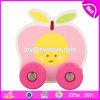 Carros de madeira do brinquedo dos brinquedos baratos por atacado das crianças do bebê da forma da fruta para os miúdos W04A346