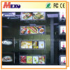Retroiluminada de Super Slim caja de luz LED magnética Escaparate de acrílico
