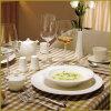 serie bianca dell'ammaccatura di invecchiamento dell'insieme di pranzo della porcellana 13PCS