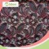 赤くおよび黒いカラー混合の刺繍のカーテンのレースファブリック