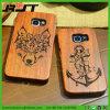Cas en bois réel de téléphone mobile de la configuration 100% de laser pour la galaxie S6 de Samsung