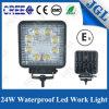 Linterna blanca cuadrada agrícola de la viga 24W LED