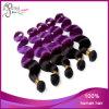 Due Tone Color 1b#/Purple Body Wave Peruvain Virgin Hair Weft